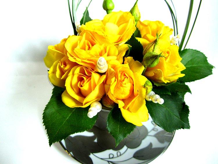 Чайная пара с розами - мастер-класс