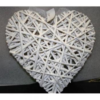 Сердце плетеное из ротанга, 20см (1 шт.)