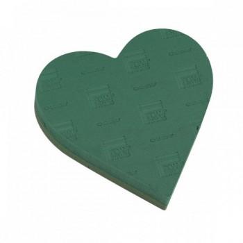 Флористическая губка Oasis Идеал Сердце на стиропор, 24х25х6cм (1 шт.)