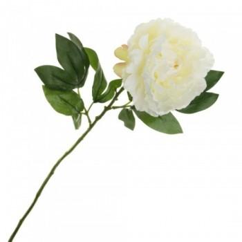 Цветок искусственный Пион, 66 см (1 шт.) - кремовый