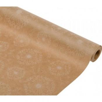 Бумага упаковочная Одуванчики крафт бурый, 0,7x2,5м, 50г/м2 (1 шт.)