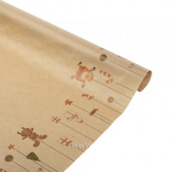 Бумага упаковочная Новогодние игрушки крафт бурый 0,6х2,5м, 40г/м2 (1 шт.)