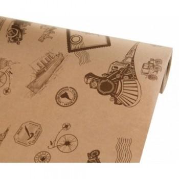 Бумага упаковочная Вокруг Света крафт бурый 0,7х2,5м, 75г/м2 (1 шт.)