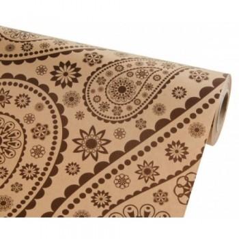 Бумага упаковочная Огурцы крафт бурый 0,7х2,5м, 75г/м2 (1 шт.)