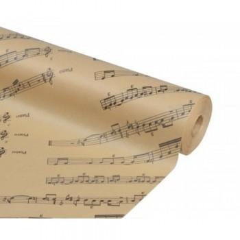 Бумага упаковочная Ноты крафт бурый 0,7х2,5м, 50г/м2 (1 шт.)
