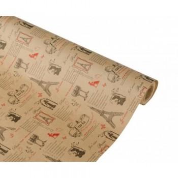 Бумага упаковочная Париж крафт бурый 0,7х2,5м, 60г/м2 (1 шт.)