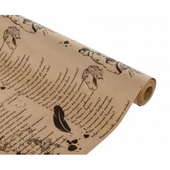 Бумага упаковочная Пушкин крафт бурый 0.7х2,5м, 60 г/м2 (1 шт.)