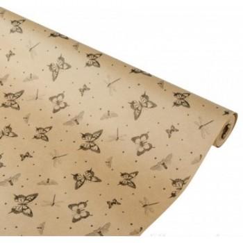 Бумага упаковочная Бабочки крафт бурый 0,7x2,5м, 60г/м2 (1 шт.)