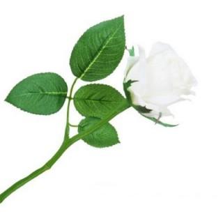 Цветок искусственный Роза Suzane, 25 см (1 шт.) - белый