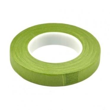Лента флористическая Flower Tape, 13ммх27м (1 шт.) - светло-зеленая