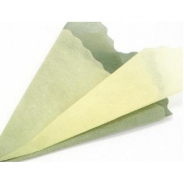 Фетр с цветным переходом, 50смх5м (1 шт.) - оливковый-желтый
