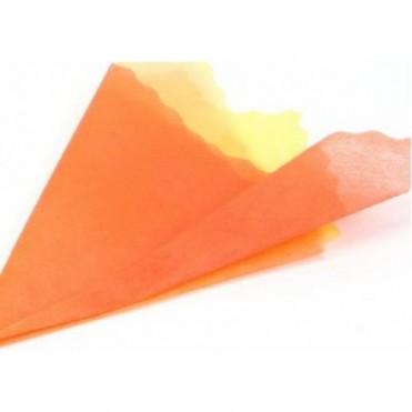 Фетр с цветным переходом, 50смх5м (1 шт.) - персиковый-желтый