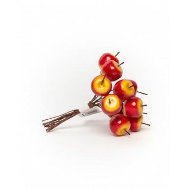 Яблочки декоративные красно-желтые, 12шт. (1 уп.)