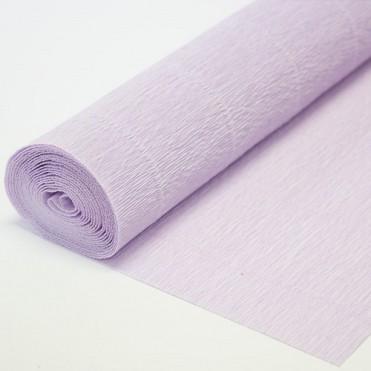 Бумага гофрированная, 50смx2,5м (180 г) - светло-сиреневая