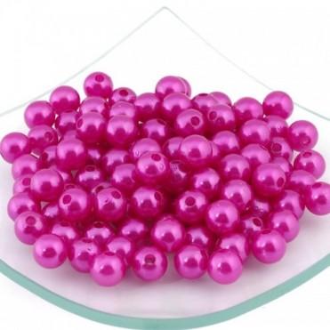 Бусины перламутровые MAGIC HOBBY 10мм, 50г (1 уп.) - розовые