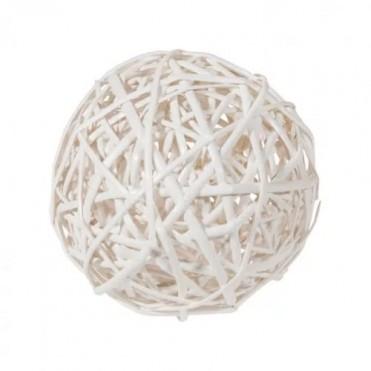 Шар плетеный (ива), D15см (1 шт.) - белый