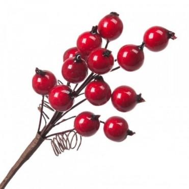 Ветка с ягодами искусственными, 10 см (1 шт.)