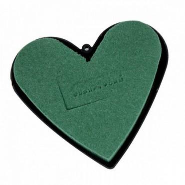 Флористическая губка Oasis Идеал Сердце закр. на пласт., 16х16.5х3.5см (1 шт.)