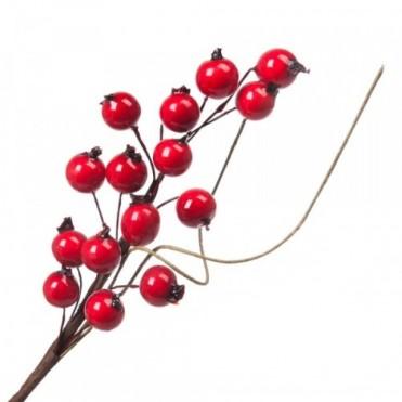 Ветка с ягодами искусственными, 18 см (1 шт.)
