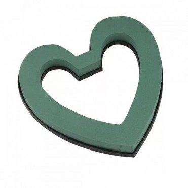 Флористическая губка Oasis Идеал Сердце откр. на пласт., 21.5х22х3см (1 шт.)