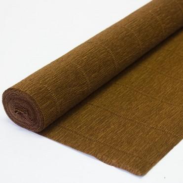 Бумага гофрированная, 50смx2,5м (180 г) - коричневая