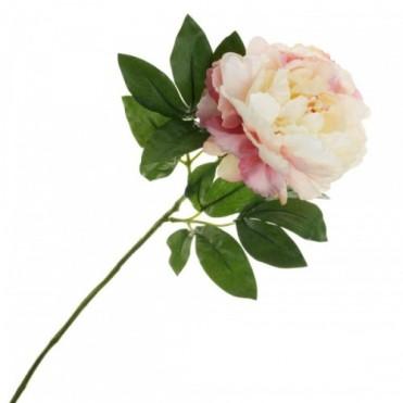 Цветок искусственный Пион, 66 см (1 шт.) - светло-розовый