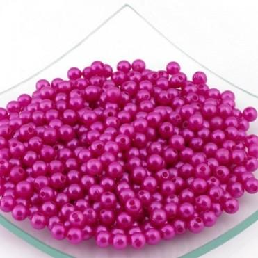 Бусины перламутровые MAGIC HOBBY 6мм, 50г (1 уп.) - розовые
