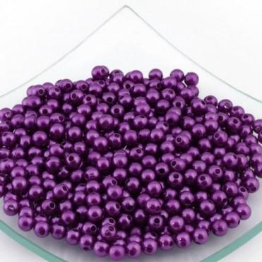 Бусины перламутровые MAGIC HOBBY 6мм, 50г (1 уп.) - фиолетовые