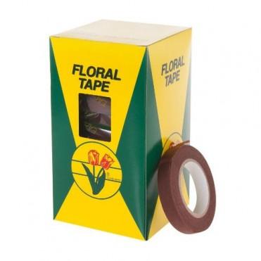 Лента флористическая Floral Tape, 1,27смх27м (1 шт.) - коричневая