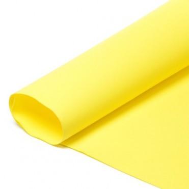 Фоамиран иранский в листах 1 мм, 60х70 см (1 шт.) - желтый