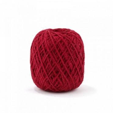 Шнур джутовый, 100г (1 шт.) - красный