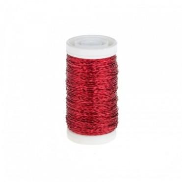 Проволока бульонка, 0,3мм 75гр (1 шт.) - красная