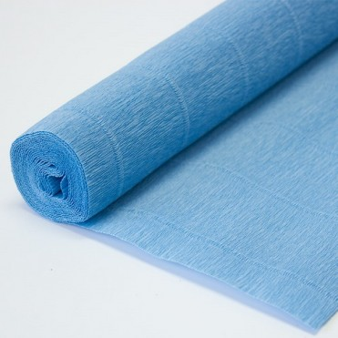Бумага гофрированная, 50смx2,5м (180 г) - голубая