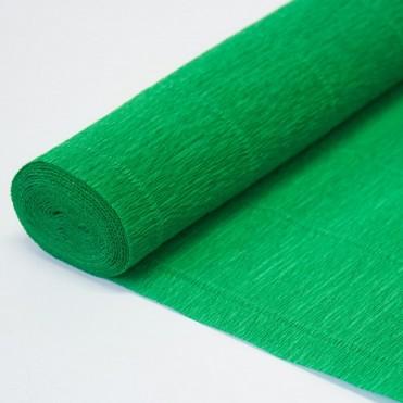 Бумага гофрированная, 50смx2,5м (180 г) - зеленая