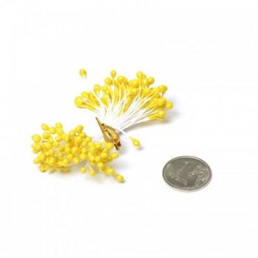 Тычинки, 84 шт. (1 уп.) - желтые