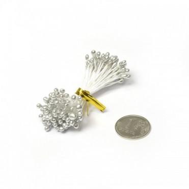 Тычинки, 84 шт. (1 уп.) - серебряные
