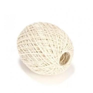 Шнур джутовый, 100г (1 шт.) - белый