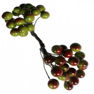 Ягоды декоративные, двойной пучок (1 уп.) - зеленые