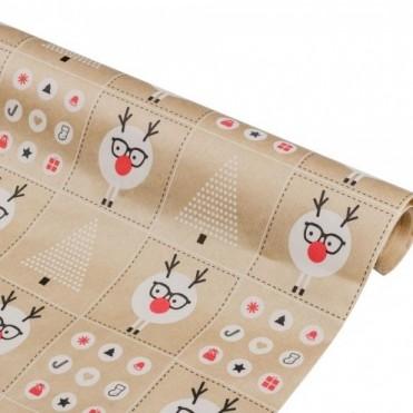 Бумага упаковочная Смешарики крафт бурый Ribbed 0,6х2,5м, 40г/м2 (1 шт.)