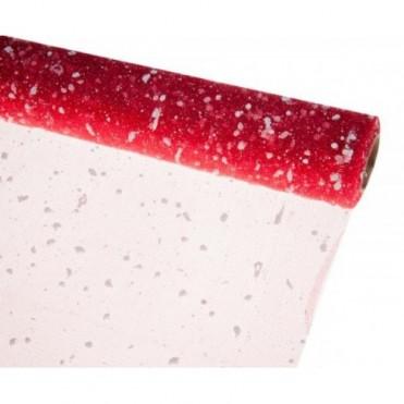 Сетка-снег, 50смх5ярд (пластик) - красная