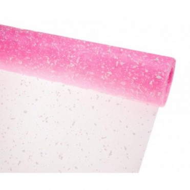 Сетка-снег, 50смх5ярд (пластик) - розовая