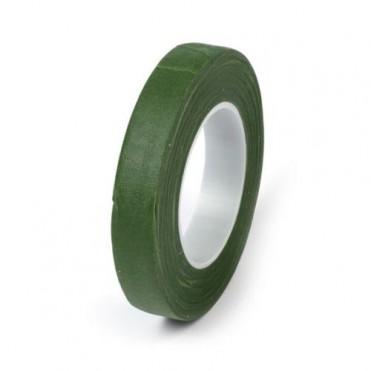 Лента флористическая Flower Tape, 13ммх27м (1 шт.) - зеленый мох