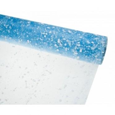 Сетка-снег, 50смх5ярд (пластик) - голубая