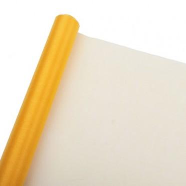 Органза-снег, 70см х 3,5 ярд (1 шт.) - желтая
