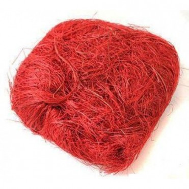 Сизалевое волокно, 50г (1 шт.) - красное