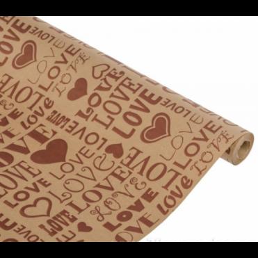 Бумага упаковочная Love art крафт бурый 0,7x2,5м, 60г/м2 (1 шт.)