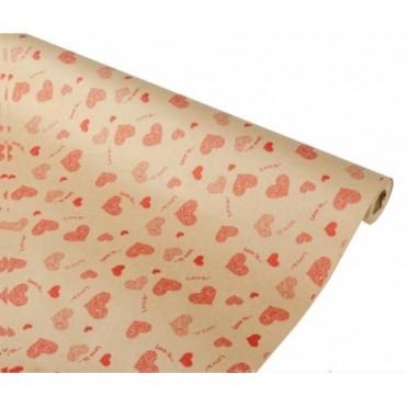 Бумага упаковочная Love is крафт бурый 0.7х2,5м, 60 г/м2 (1 шт.)
